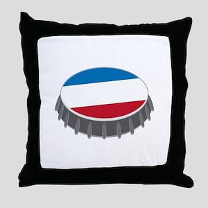 Bottle Cap Throw Pillow