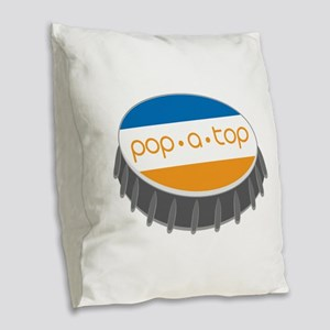 Pop.A.Top Burlap Throw Pillow