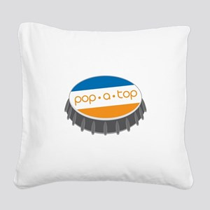 Pop.A.Top Square Canvas Pillow