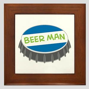Beer Man Framed Tile