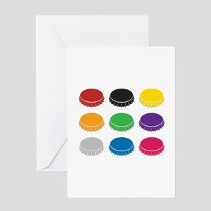 Bottle Caps Greeting Cards