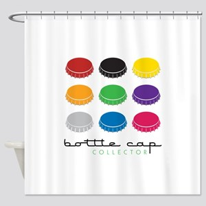 Bottle Cap Collector Shower Curtain