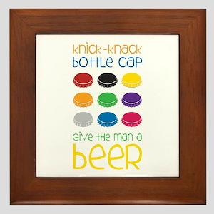 Knick-Knack Bottle Cap Give The Man A Beer Framed