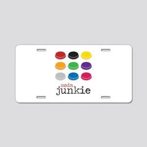 Soda Junkie Aluminum License Plate