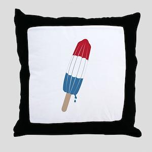 Popsicle Rocket Throw Pillow
