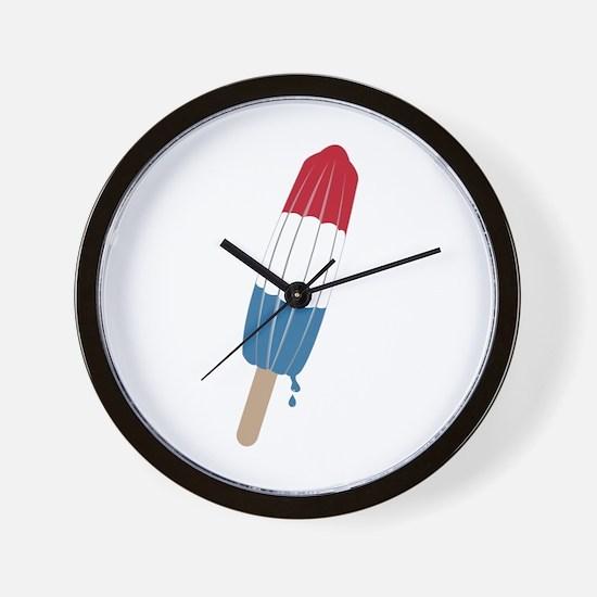 Popsicle Rocket Wall Clock