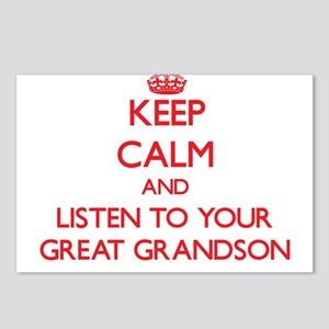 Keep Calm and Listen to your Great Grandson Postca
