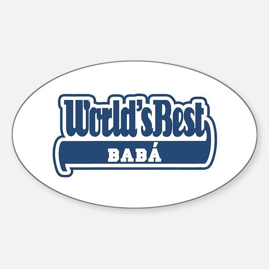 WB Dad [Greek] Oval Decal