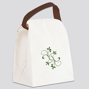 Green Leaves Canvas Lunch Bag