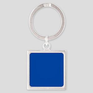 Solid Cobalt Blue Square Keychain