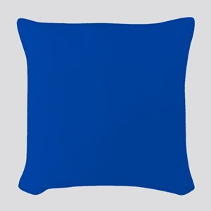 Solid Cobalt Blue Woven Throw Pillow