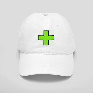 Neon Green Medical Cross (Bold) Baseball Cap