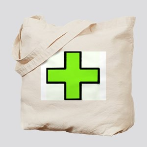 Neon Green Medical Cross (Bold) Tote Bag
