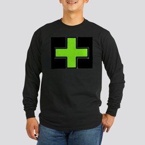Neon Green Medical Cross (Bold/ black background)