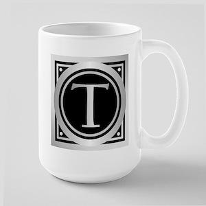 Deco Monogram T Mugs