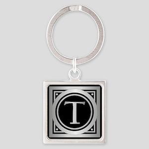 Deco Monogram T Keychains