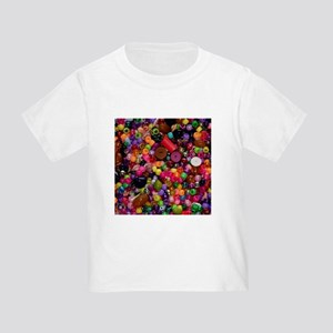 Colorful Beads - Crafty Toddler T-Shirt