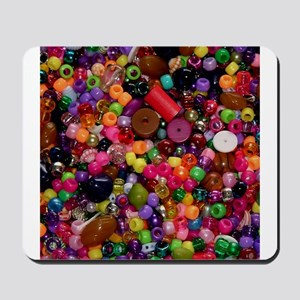 Colorful Beads - Crafty Mousepad