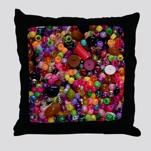 Colorful Beads - Crafty Throw Pillow