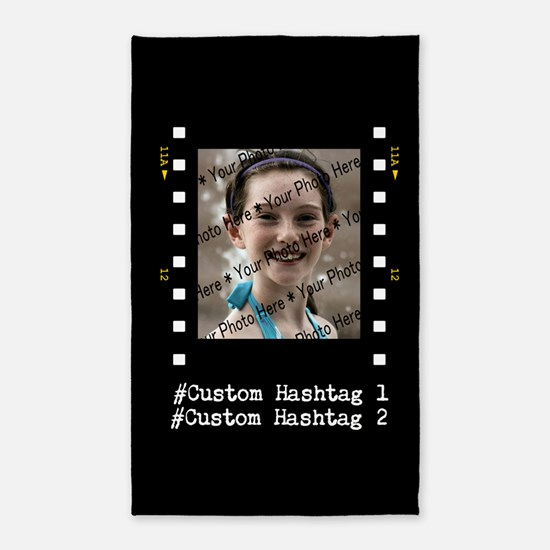 Personalized Selfie Hashtag Frame 3'x5' Area Rug
