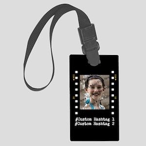 Personalized Selfie Hashtag Fram Large Luggage Tag