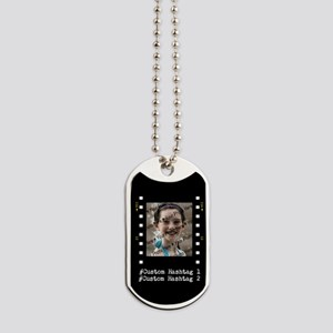 Personalized Selfie Hashtag Frame Dog Tags