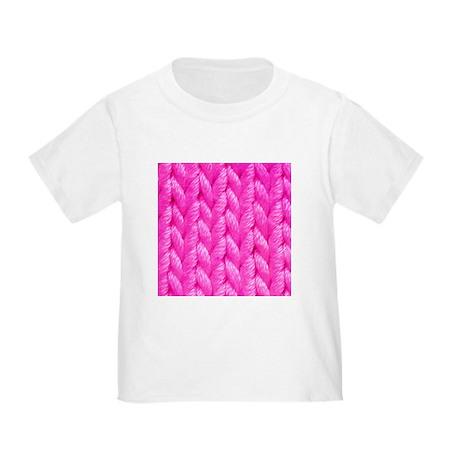 Pink Kniting - Crafty Toddler T-Shirt