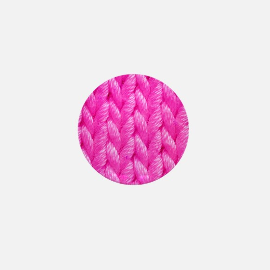 Pink Kniting - Crafty Mini Button
