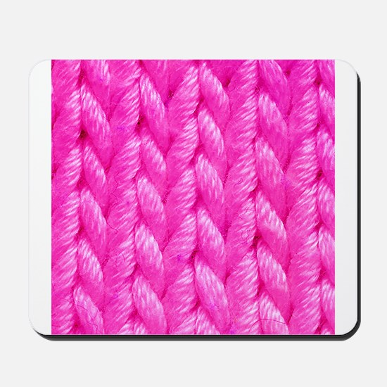 Pink Kniting - Crafty Mousepad