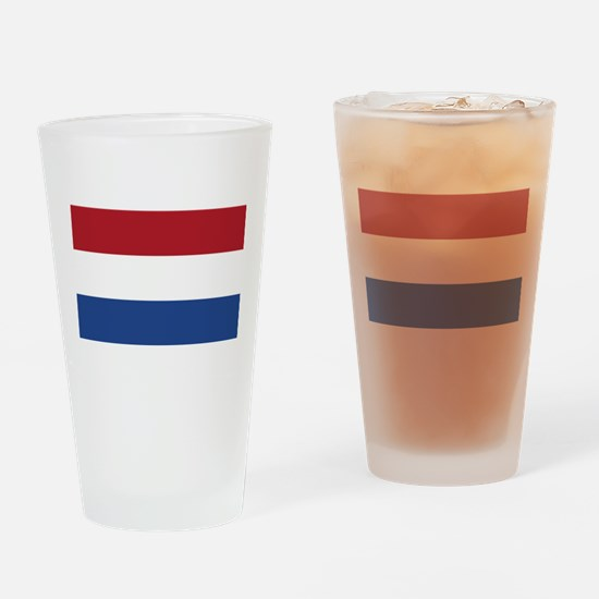 Netherlands Flag Drinking Glass