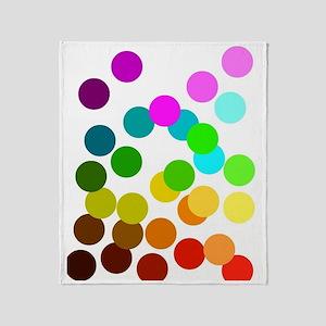 Ombre Rainbow Dots Throw Blanket