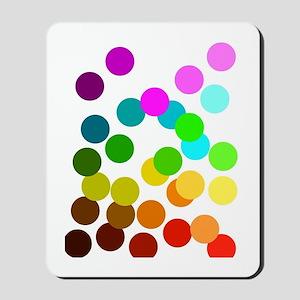Ombre Rainbow Dots Mousepad
