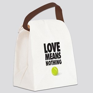 LOVE MEANS NOTHING - TENNIS Canvas Lunch Bag