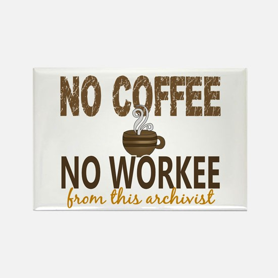 Archivist No Coffee No Rectangle Magnet (100 pack)