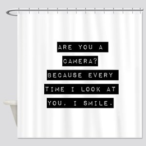 Are You A Camera Shower Curtain