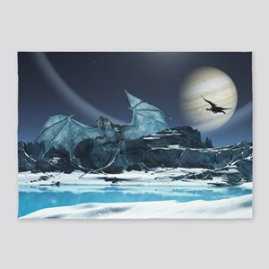 Ice Dragon 5'x7'Area Rug