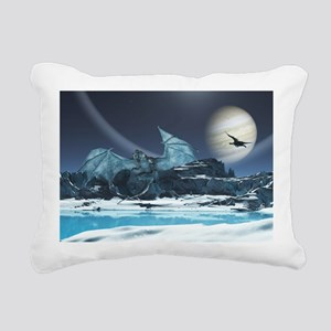 Ice Dragon Rectangular Canvas Pillow