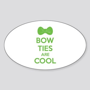 Bow Ties Are Cool Sticker (Oval)