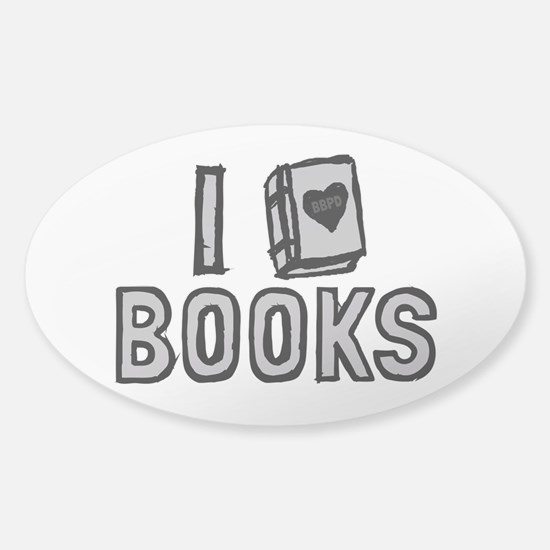 I Love Books Decal