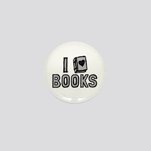 I Love Books Mini Button