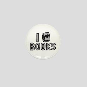 I Love Books Mini Button