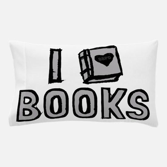 I Love Books Pillow Case