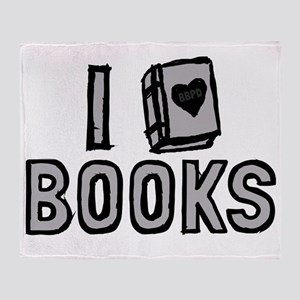 I Love Books Throw Blanket