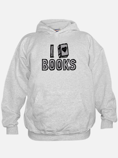 I Love Books Hoodie