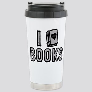 I Love Books Travel Mug