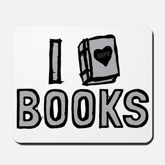 I Love Books Mousepad