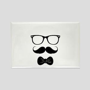 Mister Moustache Rectangle Magnet