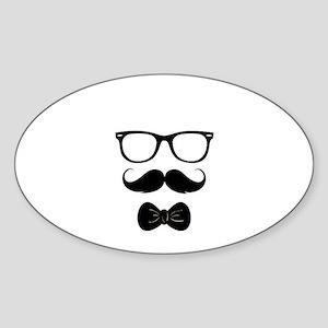 Mister Moustache Sticker (Oval)