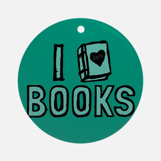 I Heart My Books Ornament (Round)