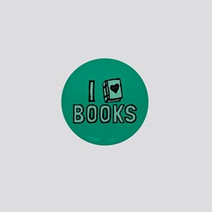 I Heart My Books Mini Button